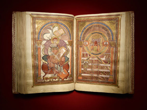 illumia-art:  For everyone who's interested in medieval manuscripts; the famous Harley Golden Gospels, or Codex Aureus is now online for everyone to see. This 9th century Carolingian manuscript has been written with gold ink, and contains some beautiful fullpage illuminations. Click on the picture to go to the website of the British Library where all 430 (!) images can be seen in full detail.