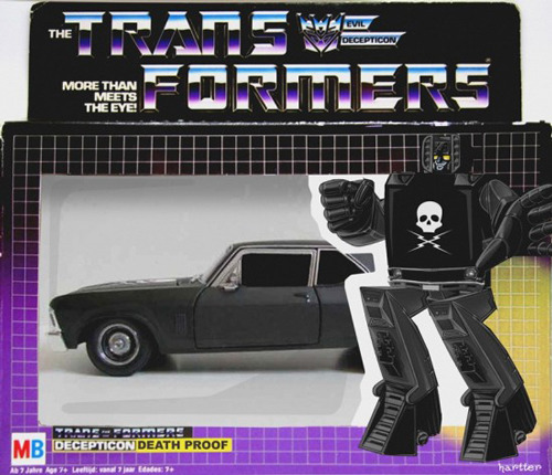 We really, really, really want this Death Proof Transformer. Like, really.