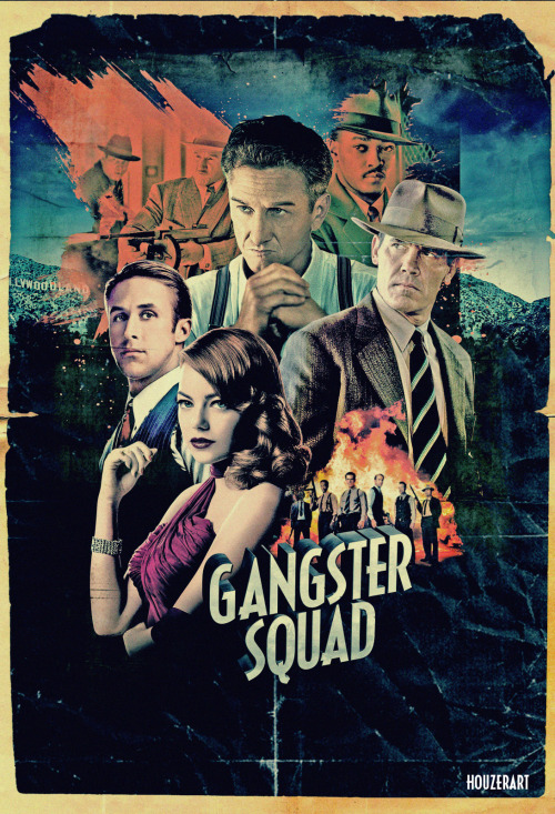 85/2013 Movie List 218. Gangster Squad (2013) Los Angeles, 1949: A secret crew of police officers led by two determined sergeants work together in an effort to take down the ruthless mob king Mickey Cohen who runs the city.   Director:  Ruben Fleischer  Writers:  Will Beall, Paul Lieberman (book)  Stars:  Sean Penn, Ryan Gosling, Emma Stone | See full cast and crew