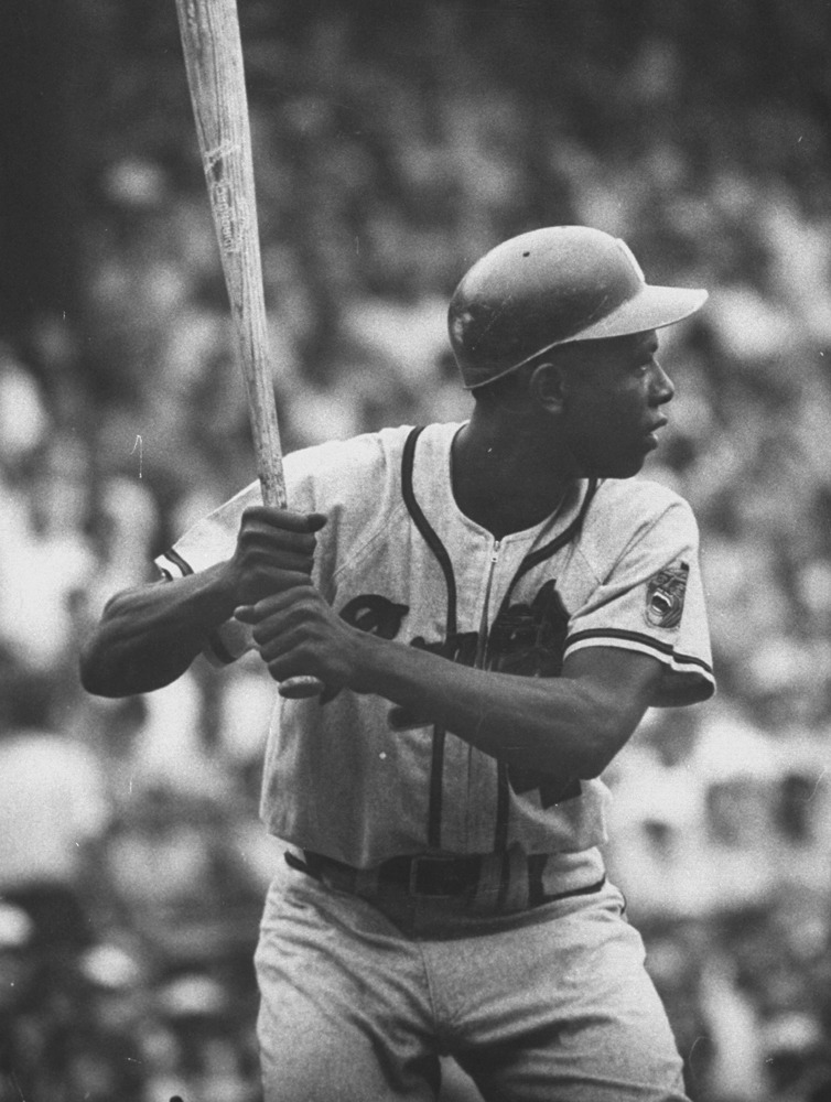 life:  Happy birthday, Hank Aaron. Hank Aaron spoke with LIFE.com about teammates and rivals who made his playing days so satisfying and so downright fun for so many years — read it here. (George Silk—Time & Life Pictures/Getty Images)