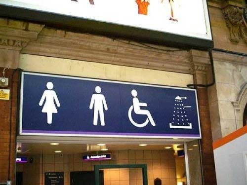 This restroom available to Women, Men, Those Using Wheelchairs, and….. Dahleks?!?!