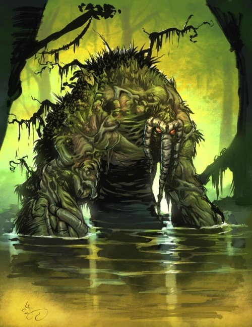 brianmichaelbendis:  Man-Thing by Skottie Young