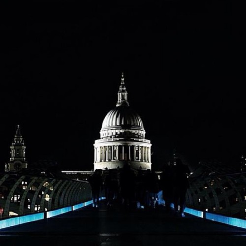 St Paul's Cathedral from Millennium Bridge, London, England, United Kingdom | #StPaulsCathedral #StPauls #MillenniumBridge #London #England #UnitedKingdom #uk #landmark #night #nightshot #cathedral #europe  #trip #photooftheday #picoftheday #webstagram #instagram