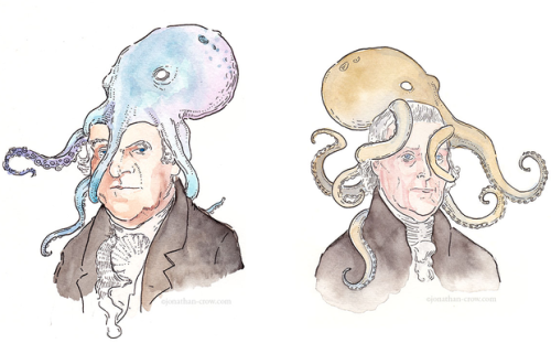 wnyc:  The best and most important blog we discovered this week places octopuses on the heads of United States vice-presidents. All of them. http://bit.ly/XvhGG6  This is for all of the marine biologists/history buffs out there. -Emily