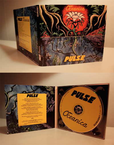 Original artwork and layout for jazz group Pulse. Guru recordings 2012.