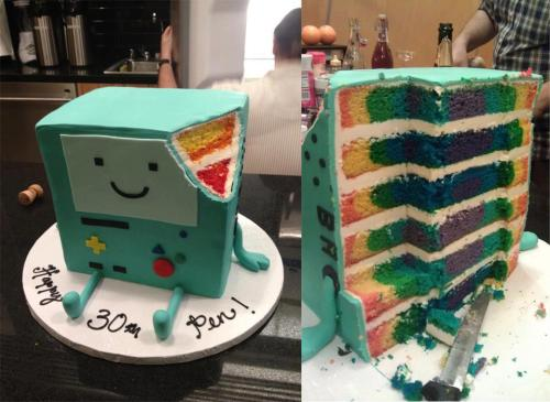 uncensoredsoul:  themanoctave:  Awesome BMO Cake  that is SO cool