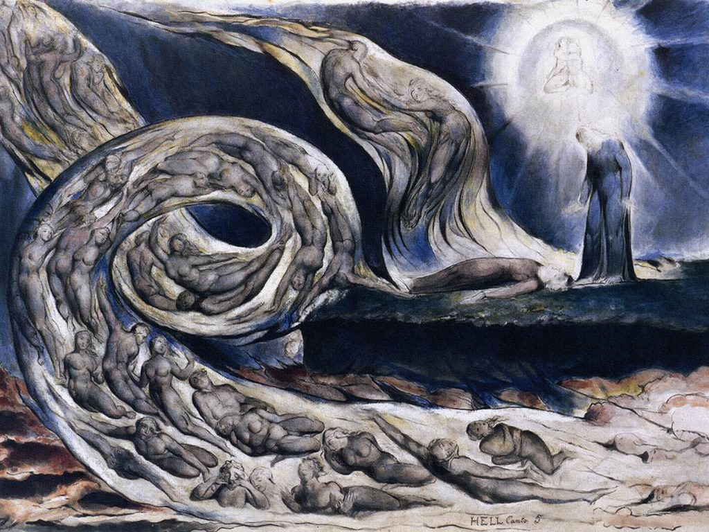 William Blake The Whirlwind of Lovers