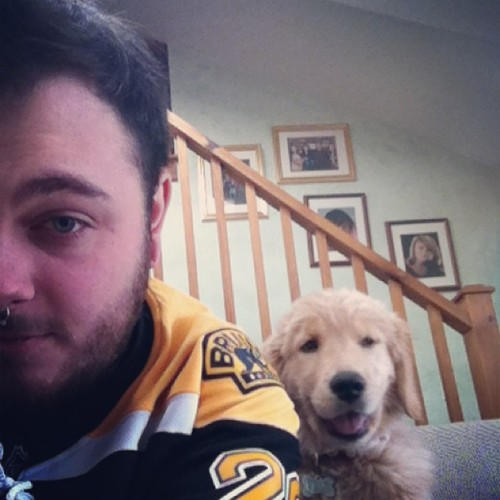 hangin' #me #bruins #🐶 #puppy