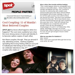 It's up Spot.ph Cool Coupling: 11 of Manila's Most Beloved Couples