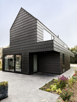 House in the Netherlands, clad in ceramic tiles