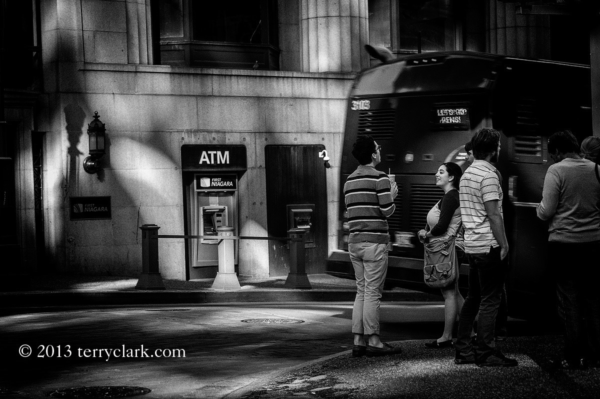 Downtown corner, Pittsburgh PA Leica M9 + 90mm Summicron.  BW conversion via SilverEffectsPro 2