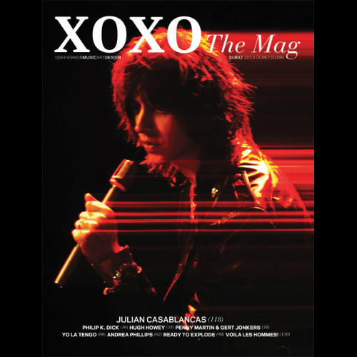 "going-back-to-five-oh-five:  ""XOXO The Mag"" Cover February 2013 - Julian Casablancas   Mmmmmmmmmm Julian"