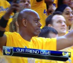 "nbaoffseason:  ""Our Friend Dave"". I love the Yay Area.   via  Surprise of tonight in the crowd. Seems to like visiting the Bay a lot"