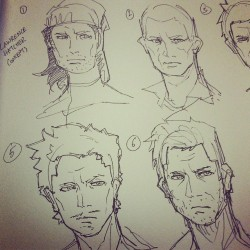 Some character design head sketches…