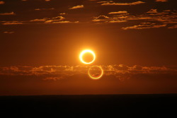 cometsmeteoroids:  Rising Ring of Fire by Nicole Hollenbeck