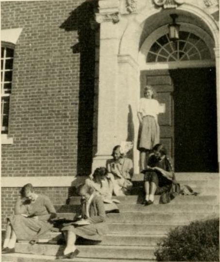 1949 Briar Patch- on the steps of Cochran Library