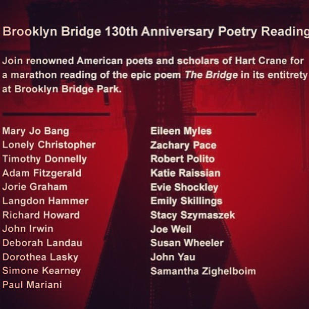 #brooklynbridge #poetry #rockstars #brooklyn #crane #hartcrane #marathon #eternity