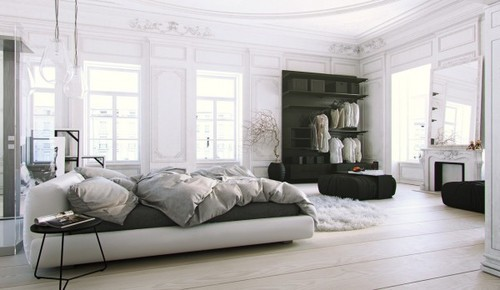 Home Designing — (via Scandinavian & Parisian Apartments In White)