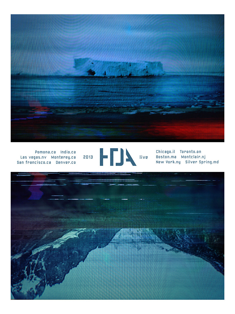 HTDA tour poster #1. From a series of six posters, sold at select shows in limited runs signed by the band (only one poster variant will be available at each show). Not available at Coachella. Any posters left over will be made available in our store after the tour.