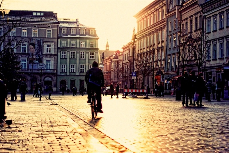 | ♕ |  Morning square in Krakow  | by © Erik Witsoe