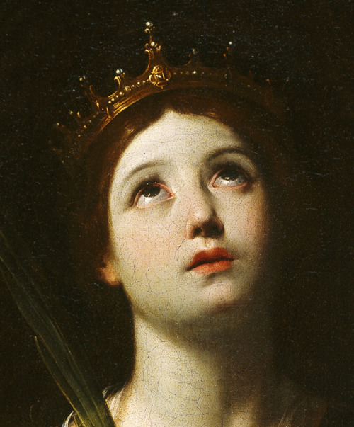 jaded-mandarin:  Guido Reni. Detail from St. Catherine of Alexandria.  Guido Reni is my favorite.  This is my favorite piece of his: