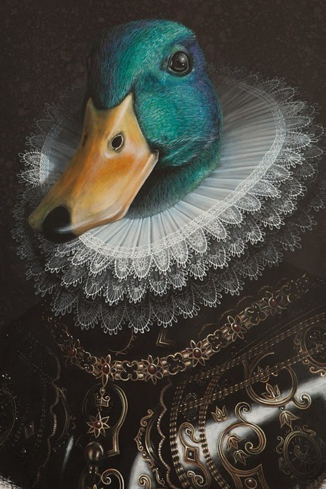 ornamentedbeing:  quack quack quack Morning Followers! Valentyne Katrina Rhodes Acrylic on cotton  Image from the26thletter.com.au.