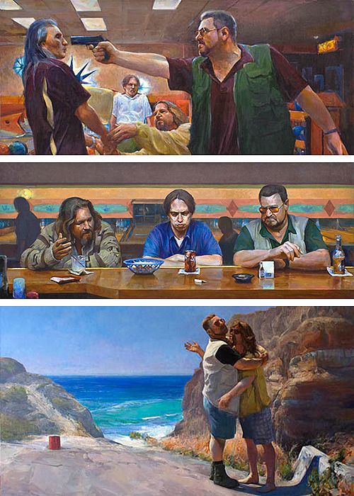 thegoodfilms:  Paintings from The Lebowski Cycle by Joe Forkan