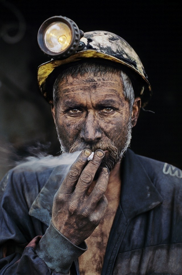 Coal miner smoking a cigarette, Pol-e-Khomri, Afghanistan, 2002 —Steve McCurry Photographs the Human Condition