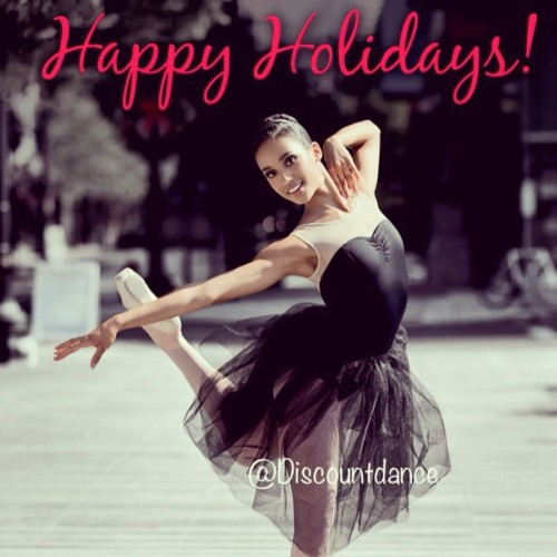 Happy Holidays from everyone here at #discountdance to you and your family! #wedance #holiday