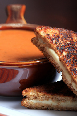 Vegan Grilled Cheese and Soup