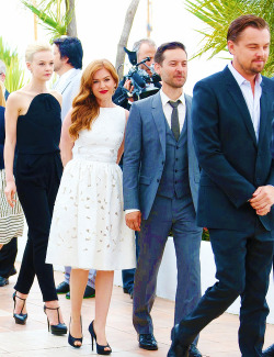 everlastingfancy:  The Great Gatsby cast @ Cannes Photo Call.