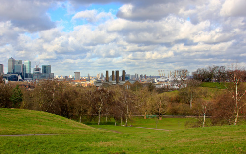 Greenwich park on a cold winter day