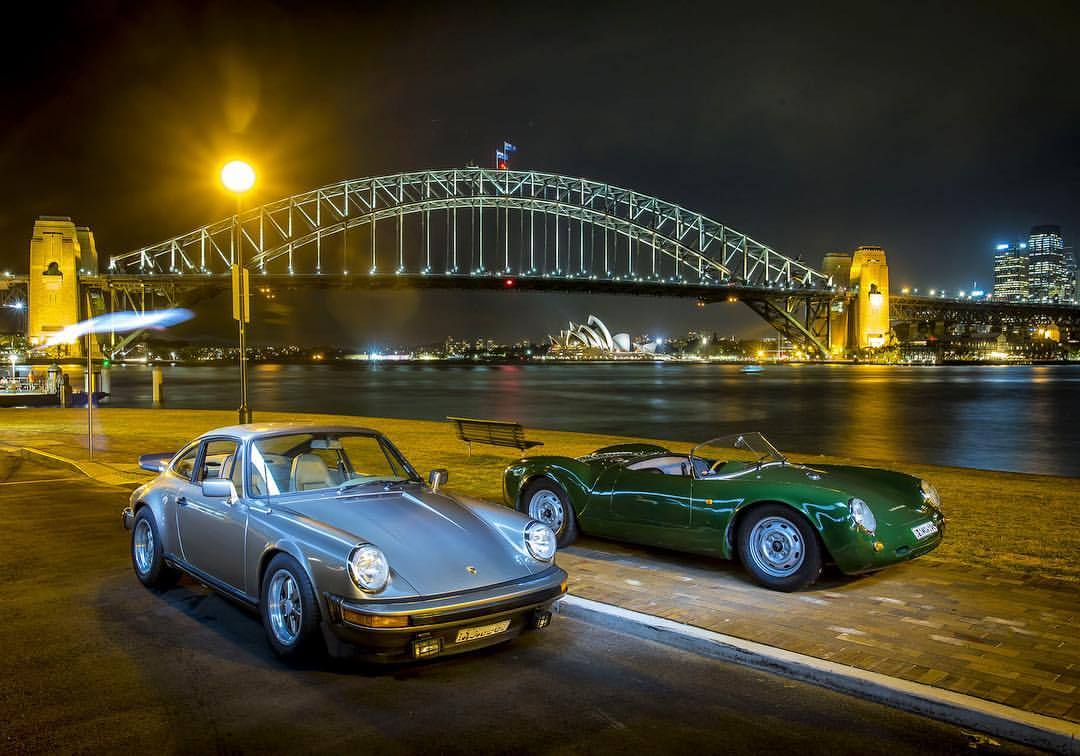 Night cruise Sydney Harbour #porsche #911SC #550 #spyder #operahouse #harbourbridge #bestcityintheworld