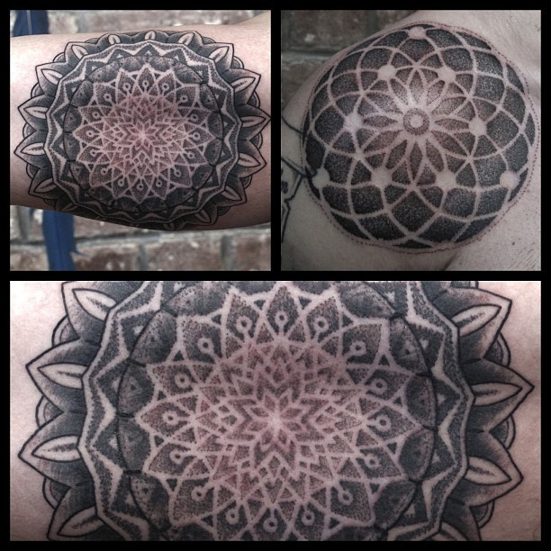 mohawktattoo:  Some recent mandalas I've done.  John is the absolute best!!!