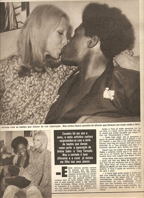 Aretha Pearl e Tony Tornado (Foto: Facebook / Reprodução)