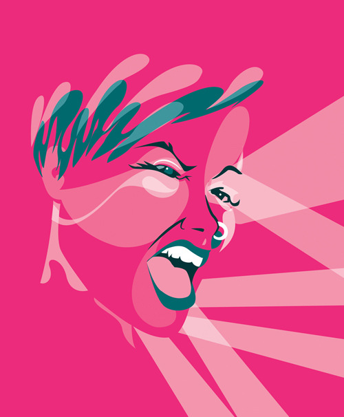 Illustrated portrait of P!NK by Ben the Illustrator. To check out more Pop Portraits click here!