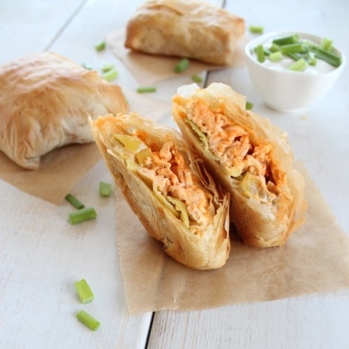 seriousnoms:  (via Buffalo Chicken Phyllo Rolls « Little Leopard Book Little Leopard Book)