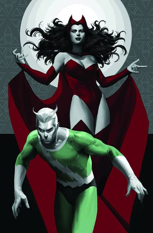 drackss:  Cover for Avengers Origins: Quicksilver and the Scarlet Witch #1 by the ever tasteful Marko Djurdjević