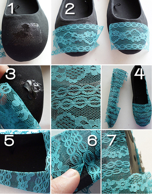 juicikay:  DIY Lacy Flats DIY Projects | UsefulDIY.com on @weheartit.com - http://whrt.it/19jF8po