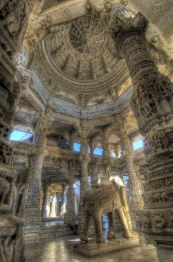 ronbeckdesigns:  Jain Temple – Udaipur, India   HOLY COW! Or rather, HOLY ELEPHANT! THis is BREATHTAKING!
