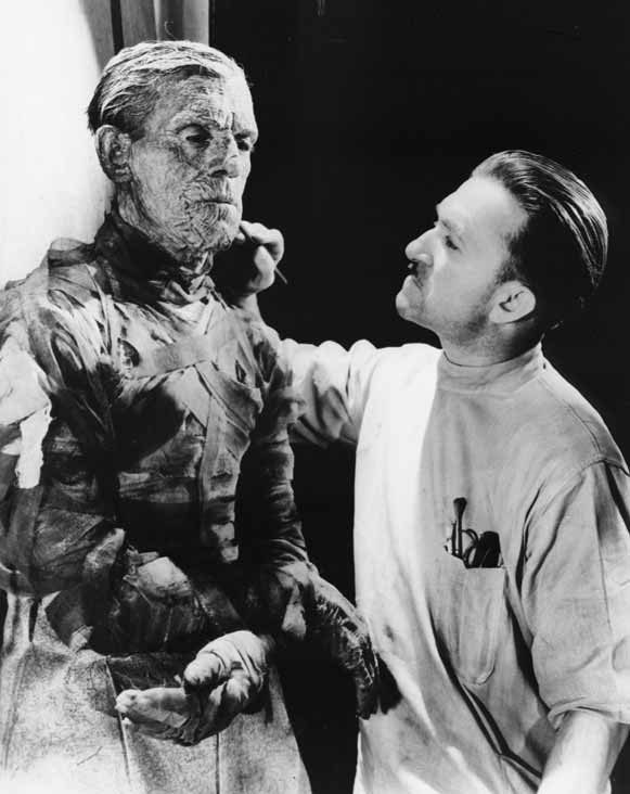 beautyandterrordance:  Giving some finishing touches to The Mummy.