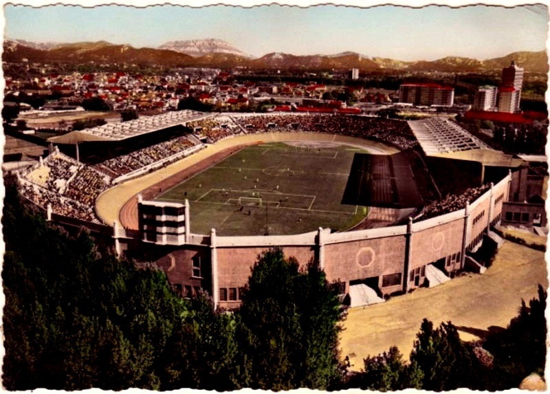 Stade Velodrome, Marseille. Source: Postcard, 1950's.