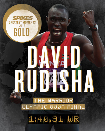 What a champion. With a whopping 25% of your votes, we crown David Rudisha's show-stopping WR as THE golden moment of athletics in 2012.