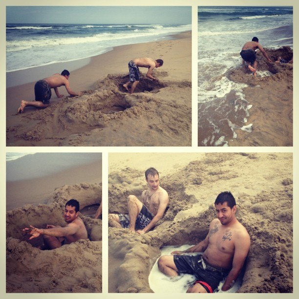 Crazy kids(: #beach #havingfun #goodday #kids @madboi93