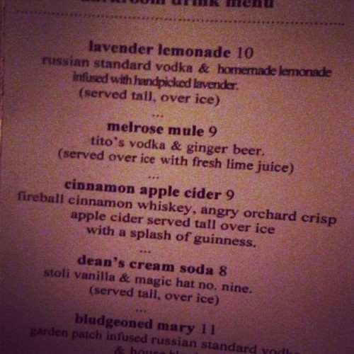 OH LORD JESUS LOOK AT THAT CINNAMON APPLE CIDER DRANK. (at Darkroom)