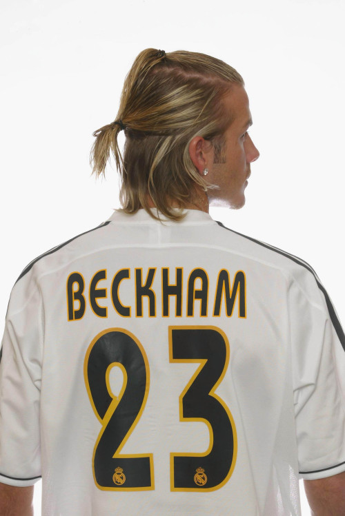 02/07/2003 Liga football Real Madrid Portrait Beckham HQ