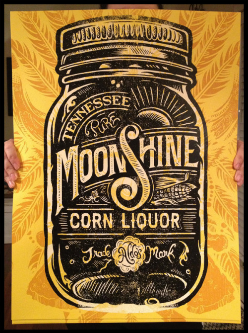 typejunkie:  (via Aldo's Tennessee Moonshine Corn Liquor on Behance)