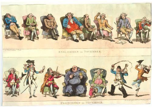 Englishmen in November, Frenchmen in November, 1788 - Thomas Rowlandson (1756-1827)