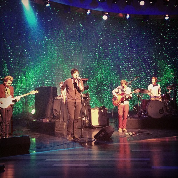 Sneak Peek of Grizzly Bear rehearsing on The Ellen Show, which airs tomorrow, 4/24 (according to Ellen's site). (photo via maisquared)