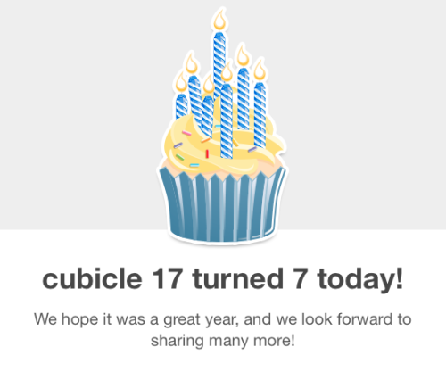 And my effective abandonment of this blog turns 2 this summer.